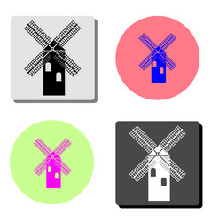 mill flat icon vector image