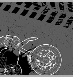 motorcycle drawn by contour vector image