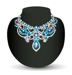 Necklace female shiny beautiful wedding vector