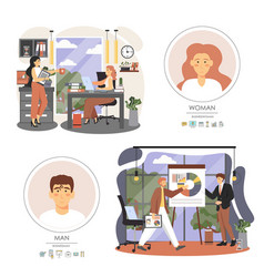 office situations business people meeting vector image