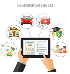 online insurance services vector image vector image