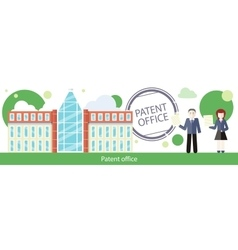 Patent Office Concept in Flat Design vector image
