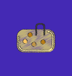 Pebble bag in hatching style vector
