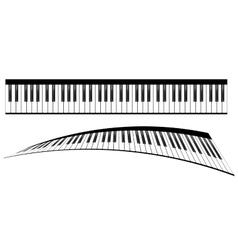 Piano keyboards set vector