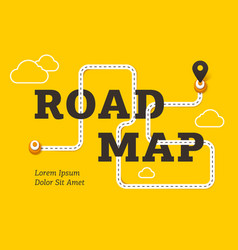 Road map business concept with winding road vector