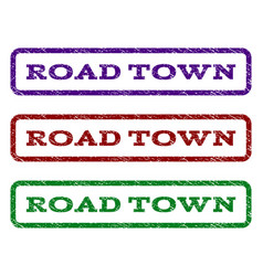 Road town watermark stamp vector
