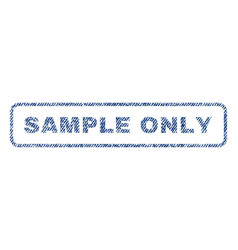 Sample only textile stamp vector