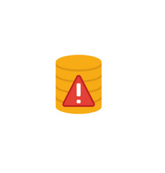 Server error icon flat creative element from big vector