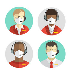 set avatars people remote workers in vector image