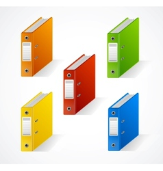 Set of colorful ring binders vector