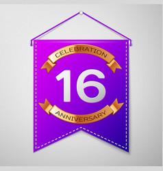sixteen years anniversary celebration design vector image