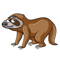 Sloth with sleepy eyes vector
