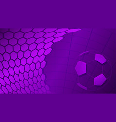 soccer background in purple colors vector image