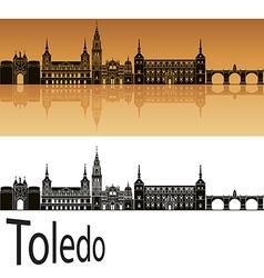 Toledo skyline in orange vector image