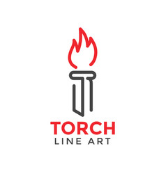 torch graphic design template vector image