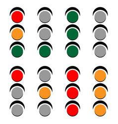 Traffic lamps traffic lights semaphore vector