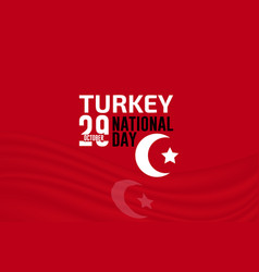 turkey independence day flag background vector image