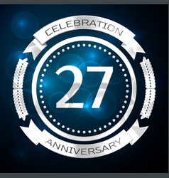 Twenty seven years anniversary celebration with vector