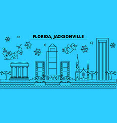 United states jacksonville winter holidays vector