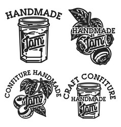 vintage confiture emblems vector image