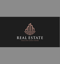 vintage real estate logo design inspiration vector image