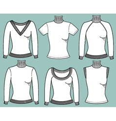 Warm pullovers for women vector image