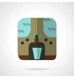 Water purifier flat color icon vector