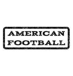 American football watermark stamp vector