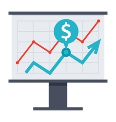 Financial Strategy Icon vector image vector image