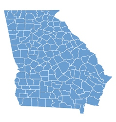 State map of Georgia by counties vector image vector image