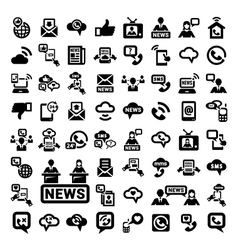 big communication icons set vector image vector image