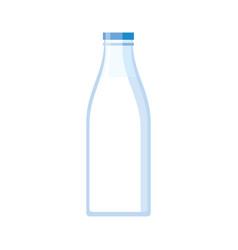 bottle of fresh milk isolated vector image