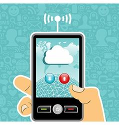 Cloud computing concept application vector image vector image