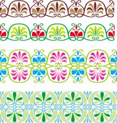 flower pattern border vector image vector image