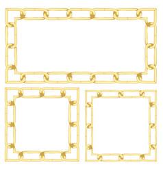 golden chain background vector image vector image