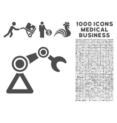 Manipulator Icon with 1000 Medical Business vector image vector image