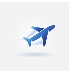 Plane takeoff blue logo vector image