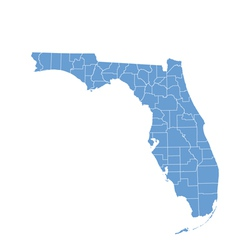 State map of florida by counties vector