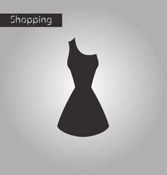 black and white style icon summer dress vector image