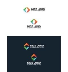 colored arrows travel logo vector image vector image