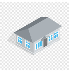 gray house isometric icon vector image vector image