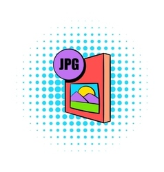 JPG file icon in comics style vector image vector image