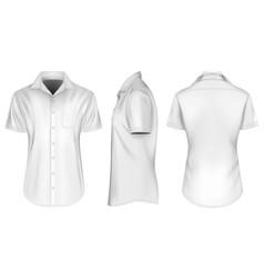 mens short sleeve shirts vector image vector image