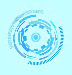 sci-fi futuristic user interface vector image vector image