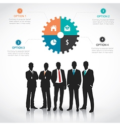 Silhouettes of Businessman vector image