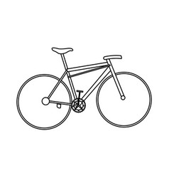 bicycle sport transport equipment outline vector image