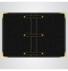Black leather cover of the book vector image