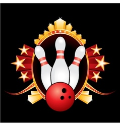 Bowling design vector image vector image