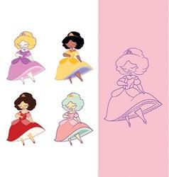 dainty princess vector image
