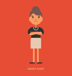 expressions and emotions angry chief angry vector image